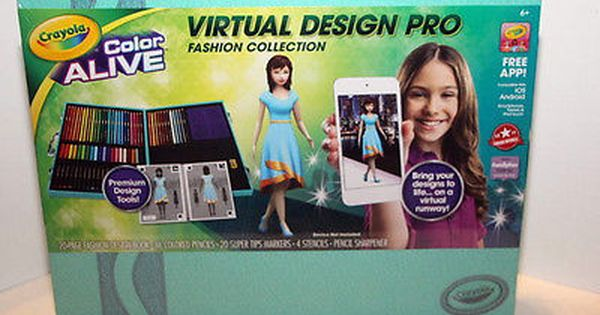 Crayola Color Alive Virtual Design Pro Fashion Collection Nib W Free App Ebay Design Color Free Apps