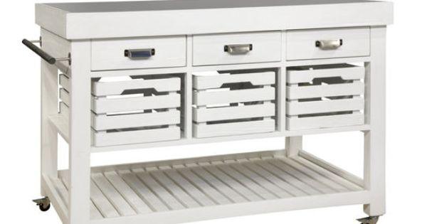 Isola cucina hudson con piano in marmo tre cassetti tre for Cassetti cucina ikea