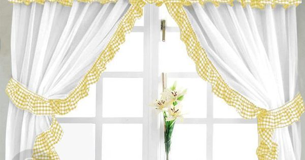 check yellow white kitchen curtain yellow kitchen curtains white