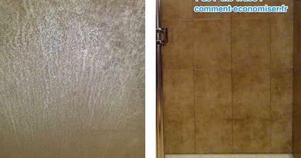 l 39 astuce pour enlever facilement les traces de calcaire sur les vitres de douche chiffon. Black Bedroom Furniture Sets. Home Design Ideas