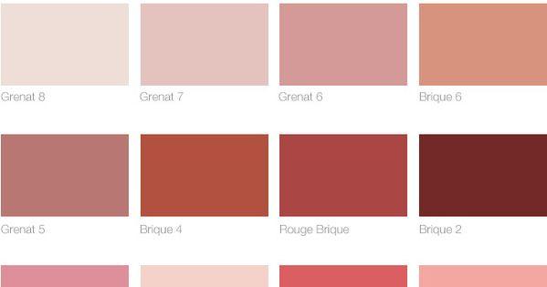 Terracotta blush lipstick nude couleurs chambres et for Couleur peinture rose poudre