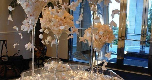 Martini glass vase quot wedding centerpiece tall