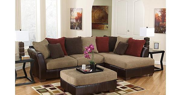 The Sanya Sectional From Ashley Furniture Homestore The Sanya Mocha Upholstery