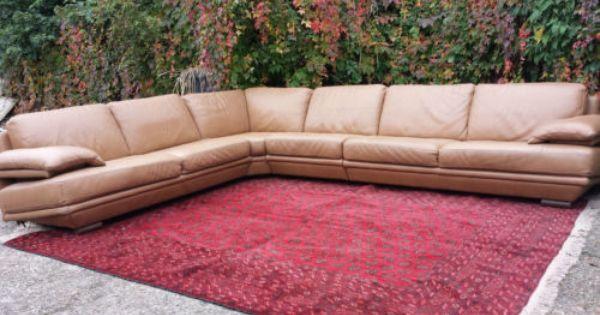 Natuzzi Plaza Large Brown Leather Corner Sofa Suite Rrp 7000 Ebay Leather Corner Sofa Sofa Suites Corner Sofa