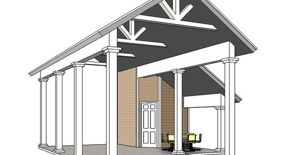Rv carport plan 006g 0162 garden shed pinterest rv Motorhome carport plans