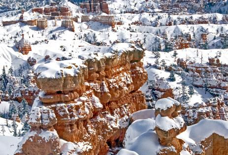 Lovely Winter at Bryce Canyon, Utah