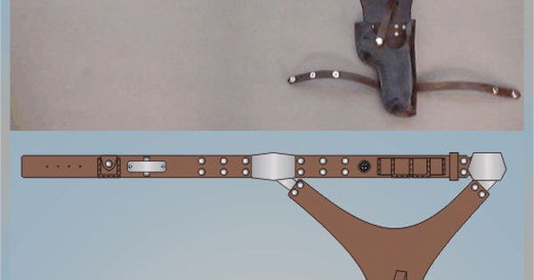 Detailed drawings of Han Solo belt if you're doing a Han Solo