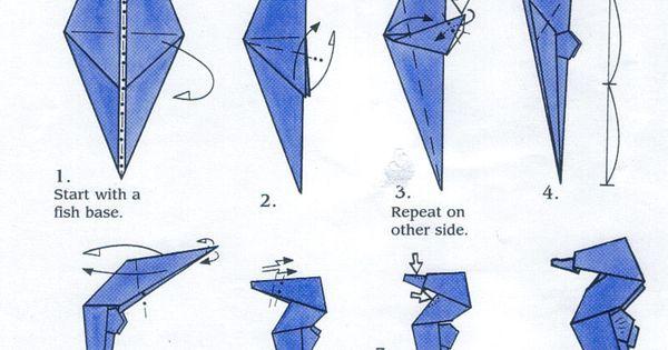 sea horse origami pinterest origami and origami animals Origami Great White Shark Diagram PDF Origami Tiger Shark