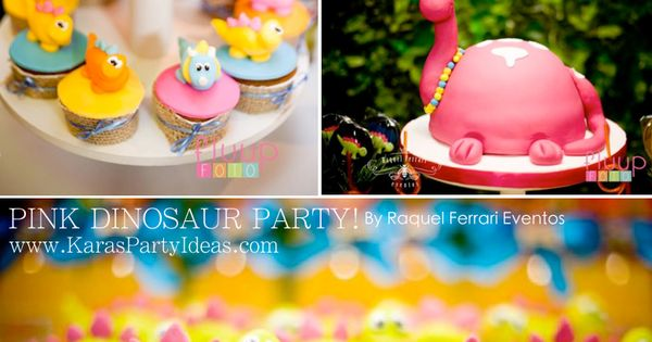 Pink dinosaur girl 5th birthday party planning cake for 5th birthday decoration ideas