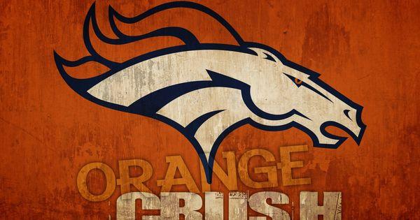 cool denver broncos logos   Denver Broncos Orange Crush ...