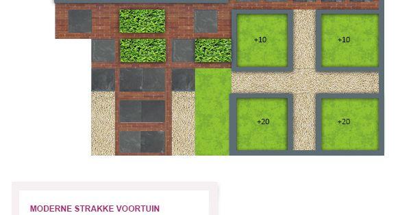 Moderne strakke voortuin getekend door onze tuinontwerper adrie zaalberg garden pinterest - Moderne tuin ingang ...