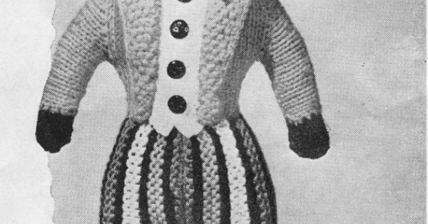 Knitted Golliwog Pattern : Instant Download, Gollywog, Knitting Pattern, PDF, Vintage Toy Pattern, Knitt...