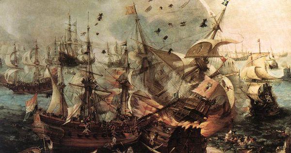 Batalla de Gibraltar   Battle   Pinterest   Historia and Pintura