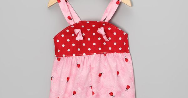 Ruby and rosie pink ladybug romper infant pink rompers and