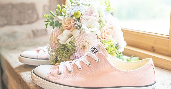 This afternoon I have another WWW reader wedding, you guys are the besta?� ita??s official :-) WWW readers Tom and Emma married on the 28th September 2013 at Flanes | See more about Pink Converse, Converse and Wedding Converse.