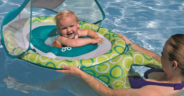 Swimways Mommy And Me Baby Spring Float With Canopy Toys