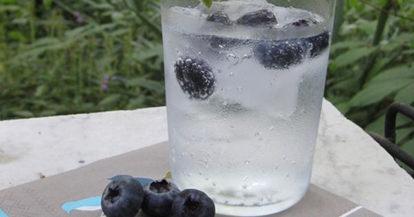 blueberry vodka, tonic water (you can also use diet tonic), and 1/4 of ...