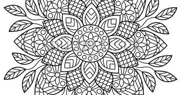Mandala Coloring Book Pages Indian Antistress Medallion