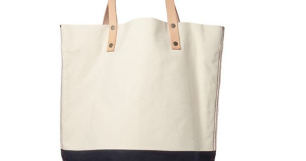 Two-Tone Canvas and Leather bag