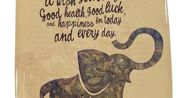 Elephant Good Luck Quote