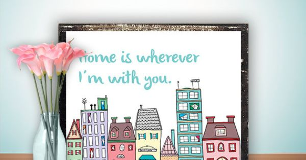 Home is wherever i 39 m with you use as embroidery design for Bocal mural poisson