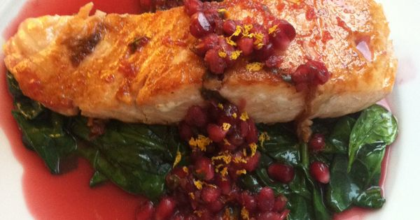 Pomegranates, Salmon and Spinach on Pinterest