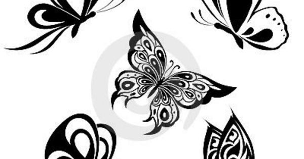 Simple Black Butterfly Tattoo Designs Google Search Tattoos Pinterest Black Butterfly