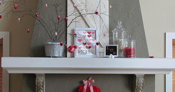39th Street Cottage Valentine Mantel 2012 Valentines
