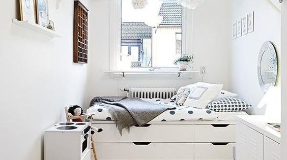 35 brilliant small space designs white kids room small for Brilliant small kids beds