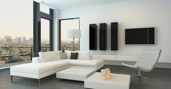 Sala con suelo de madera color gris ideas de como for Decoracion hogar gris