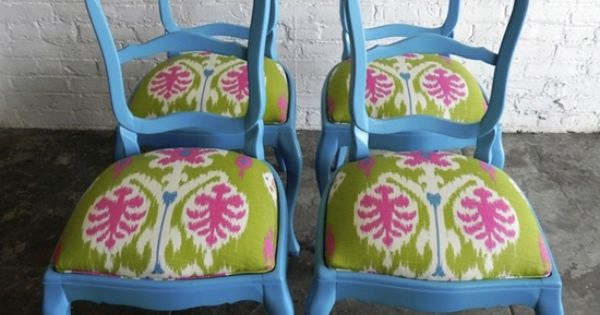 Painted chairs blue chairs and chairs on pinterest