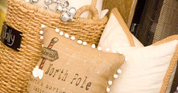 Jingle bell snowflake pillow