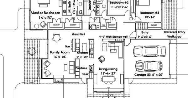 Pin de ana martinez en plantas arquitect nicas pinterest - Casas americanas planos ...