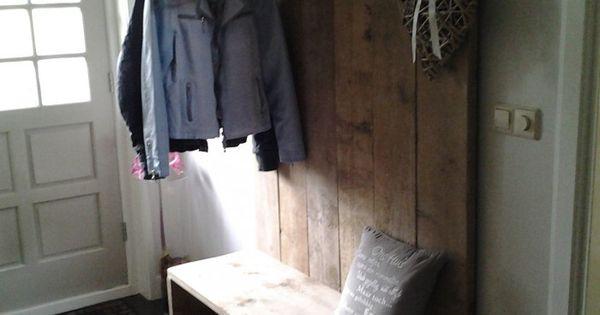 Helemaal blij met onze mooie kapstok van steigerhout gemaakt met idee n van welke kapstok - Onze mooie ideeen ...