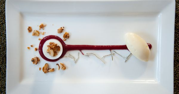 Coconut-Calamansi: Fresh Coconut Mousse, Calamansi-Cherry Coulis ...