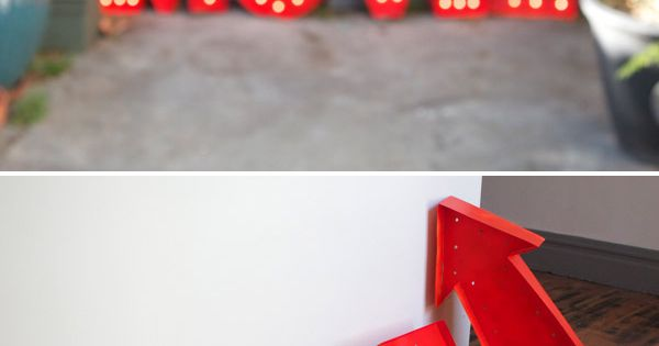 diy light up marquee letters.