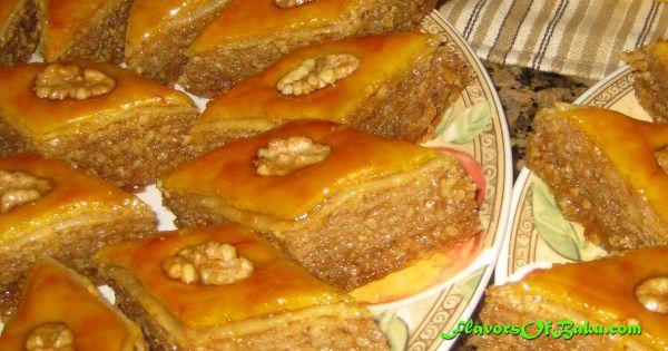 Pakhlava Azerbaijani Style Flavors Of Baku Cooking And Baking Recipes Sweet Pastries