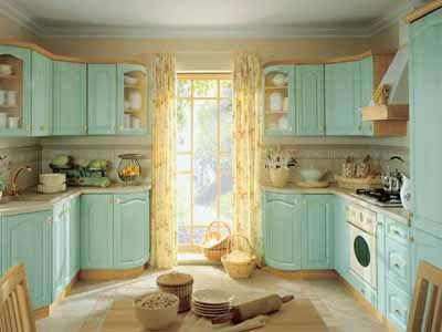 Light Blue Kitchen Colors Wood Cabinets Furniture Feng Shui