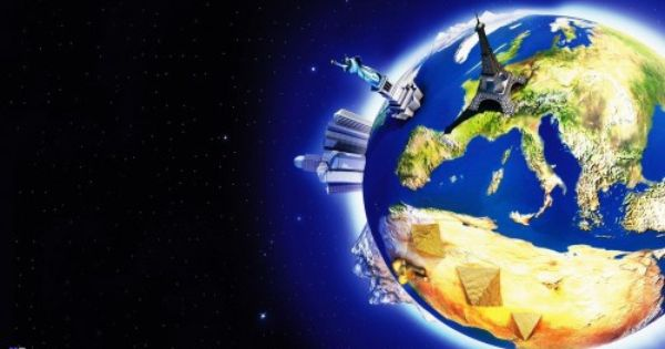 World Map 3d Space Logo Hd Wallpaper World Wallpaper Travel Marketing World Photography