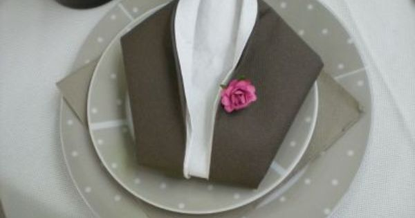 Pliages de serviettes facile table pinterest - Pliage avec deux serviettes en papier ...