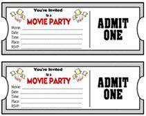 Movie Theater Classroom Theme Printable Movie Night Theme Ticket