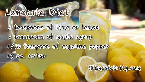 The Lemonade Diet Recipe And Instructions Guide Lemonade Diet