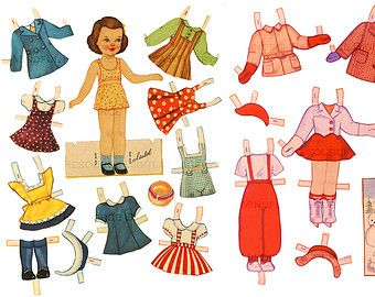 Popular Items For Retro Paper Doll On Etsy Paper Dolls Barbie Paper Dolls Paper Doll Template