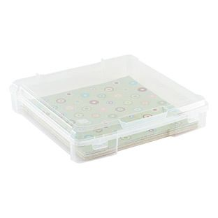 12 X 12 Paper Storage Case Paper Storage Scrapbook Paper Storage Plastic Box Storage