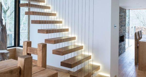 ... escalier led - 30 idées modernes et originales  Design et LED