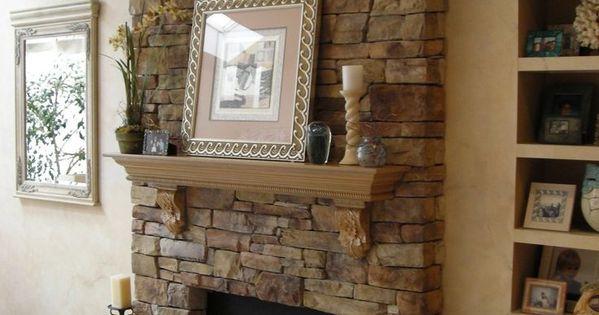Faux Fireplace Stone Veneer Fireplace Ideas Pinterest