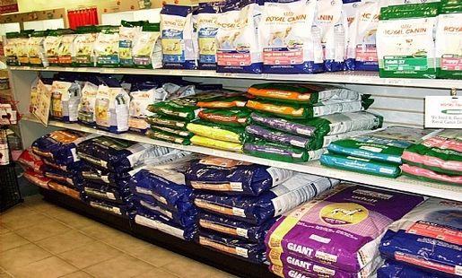 Heavy Duty Gondola Shelves For Bulk Dog Food Pet Store Shelving
