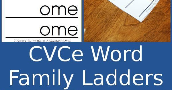 free cvce word family ladders
