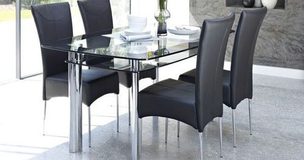 Double Glass Top Dining Table Sets Round Dining Table Modern