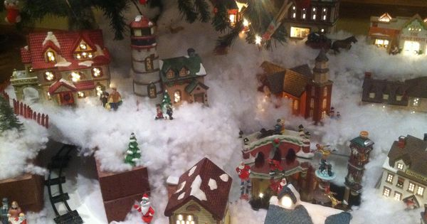 My mother 39 s christmas village under the tree christmas for Under the christmas tree 2017